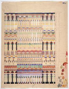 Draft for 'Five choirs', author: Gunta Stölzl, 1928. Bauhaus-Archiv Berlin / © VG Bild-Kunst, Bonn 2016.