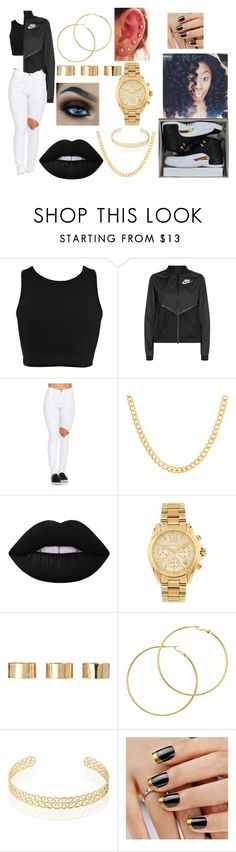 """""""#88 My City~Nick Cannon(Chi-Raq Soundtrack)"""" by kitty900 ❤ liked on Polyvore featuring River Island, NIKE, Sterling Essentials, Lime Crime, Michael Kors, ASOS, Melissa Odabash and Noor Fares"""