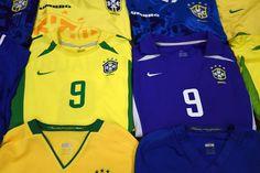 Brazil football shirts collection Football Shirts, Brazil, Sports, Collection, Tops, Fashion, Football Jerseys, Hs Sports, Moda