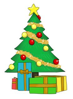 Image result for christmas tree clipart with names