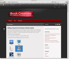 iBook Creatives – A new site about iBooks Author