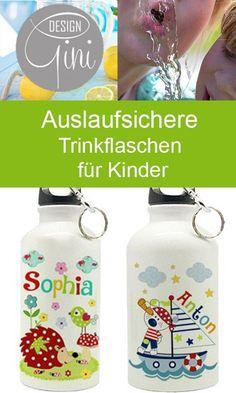 sp/ülmaschinenfest schadstofffrei Kinder Trinkflasche MEERJUNGFRAU mit Brotdose im Set auslaufsicher
