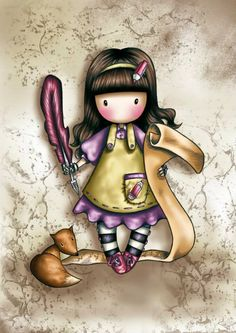 You are so kawaii Ruby! Cute Images, Pretty Pictures, Santoro London, Book Of Shadows, Beauty Art, Cute Illustration, Illustrations, Clipart, Cute Art