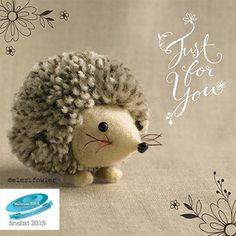 Pom pom hedgehog – 'Tiddly pom pom' Paper Rose