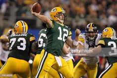 9f57542fa36 Aaron Rodgers of the Green Bay Packers throws a pass against the Pittsburgh  Steelers during Super