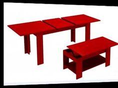como hacer una mesa de comedor - YouTube