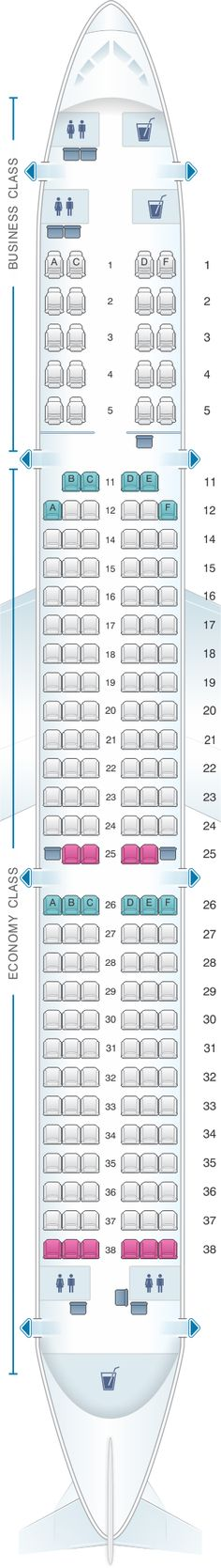 Seat Map Kingfisher Airlines Airbus A321 200 178PAX