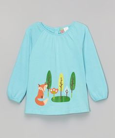 Loving this Teal Fox Tunic - Infant, Toddler & Girls on #zulily! #zulilyfinds