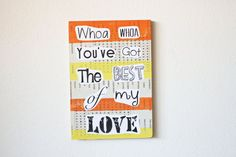 Recycled Music Lyric Art/ Song Lyrics Best of My by TrashyCrafter, $30.00