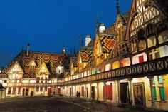 Beaune, Burgundy, France  Charming medieval town, its Hospices are a masterpiece of Flemish-Burgundian architecture, Museum of Burgundy Wine