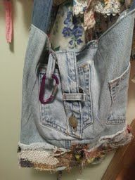recycle recycled jeans bag