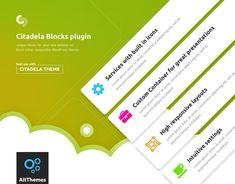 Citadela theme with extended blocks for better designing and customizing List Website, Website Themes, Wordpress Plugins, Wordpress Theme, Web Creation, Great Presentations, New Theme, Best Web, Lorem Ipsum