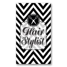 36 best business card ideas images on pinterest in 2018 salon black white chevron scissors hair stylist business card templates accmission Images