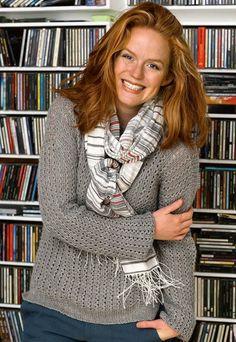 Strik selv: Grå bluse med hulmønster fra Hendes Verden Cardigans, Sweaters, Alter, Knit Crochet, Girl Fashion, Crochet Patterns, Clothes For Women, Knitting, Cotton