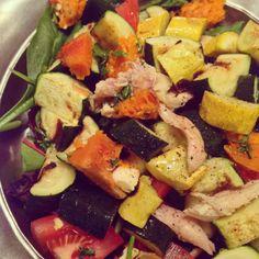 Zucchini, pumpkin, & roasted chicken salad inspiration // the sparkle kitchen