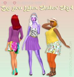 Simsworkshop: See you Later, Skater Skirt  by dtron • Sims 4 Downloads