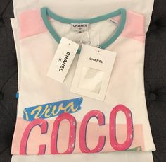 Chanel T Shirt Pink/White