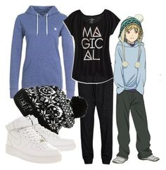 Yukine by animangafashion on Polyvore featuring polyvore fashion style Element American Eagle Outfitters SELECTED NIKE Neff clothing