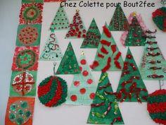 Colette a également fait des sapins/triangles. De quoi donner de belles idées pour cette année.