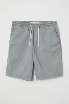 b6c743b359 Elasticized Cotton Shorts | Light gray | MEN | H&M US Gym Shorts, Casual  Shorts