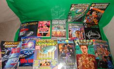 13 piece Star Trek Collector's magazines and comic books 1990's find me at www.dandeepop.com