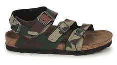 7e462aa76456 Birkenstock Birki s Kids Ellice sandal with a camouflage print Birko Flor  upper