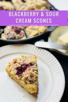 Moist and delicious berry and sour cream scones!#scones #berries #blackberries #dessert