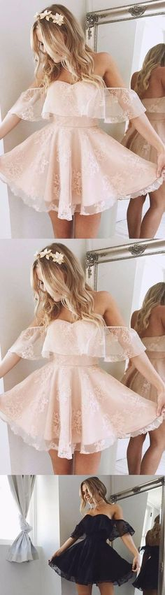 Short Prom Dresses, Champagne Prom Dresses, Prom Dresses Short, Backless Prom Dresses, Off The Shoulder Prom Dresses, Prom Short Dresses, Off The Shoulder dresses, Short Homecoming Dresses, Off Shoulder dresses, Ruffles Party Dresses, Off-the-Shoulder Homecoming Dresses, Sleeveless Party Dresses