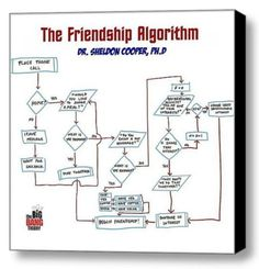 The Big Bang Theory Framed Sheldon Cooper Friendship Algorithym