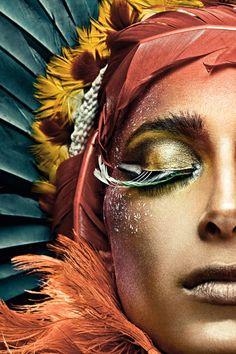 Eye Makeup Tips.Smokey Eye Makeup Tips - For a Catchy and Impressive Look Make Up Art, Eye Make Up, Beauty And Fashion, Henna Tattoos, Foto Art, Fantasy Makeup, Fantasy Art, Face And Body, Makeup Inspiration