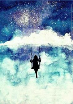 girl admires the sky