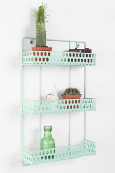 Triple-Decker Shelf  R: restroomm nail polish, kitchen spices, outdoors for small flowers and plants