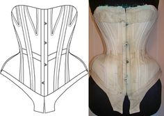 Ref A paper pattern hand drafted from by AtelierSylphecorsets, $36.00
