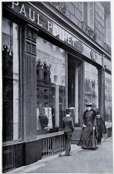 Paul Poiret (1879-1944) established his own Paris fashion house in 1903. He designed flamboyant window displays and threw legendary parties to draw attention to his work; his instinct for marketing and branding was unmatched by any previous designer.