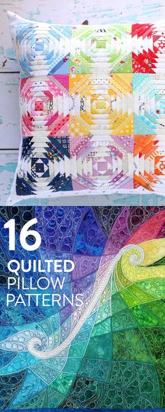 Sew a colorful quilted pillow for your home.
