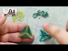 BeadsFriends: Basic Peyote Tutorial - How to make a triangle using Peyote Stitch - YouTube