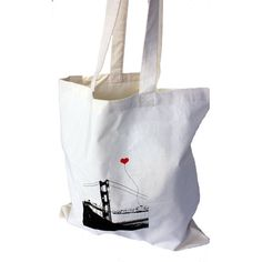 San Francisco Lover's Tote Bag by noteify on Etsy - Ready to shop with panache in the bagless city by #noteify #SFEtsy