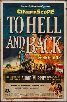 """To Hell And Back"" Audie Murphy, David Janssen Old Movies, Vintage Movies, Great Movies, Famous Movies, Iconic Movies, Movies 2019, Love Movie, Movie Tv, David Janssen"
