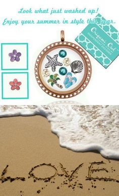 nice beach locket idea! Tell your story with an Origami Owl living locket Like it, place an order. Love it, host a show...Want it all, join my team! #54057 origamicharms@gmail.com https://www.facebook.com/pages/Origami-Owl-Paula-Hinson-Independent-Designer/419326878190030?ref=hl