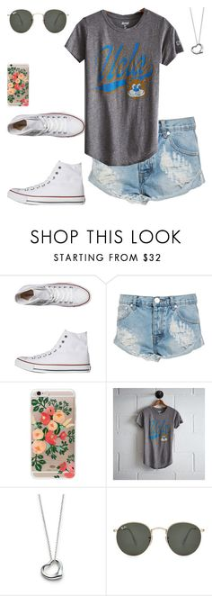 """""""Untitled #129"""" by findthefinerthings ❤ liked on Polyvore featuring Converse, OneTeaspoon, Rifle Paper Co, Tailgate, Elsa Peretti and Ray-Ban"""