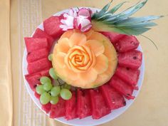 Fruit Dinner, Watermelon, Food, Essen, Yemek, Meals