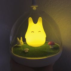 After a month of waiting it's finally here  little bby chibi totoro light.  #totoro #studioghibli #light #myneighbortotoro by gentlelooks