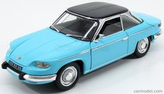 NOREV 184501 Scale 1/18  PANHARD 24CT COUPE 1964 LIGHT BLUE BLACK