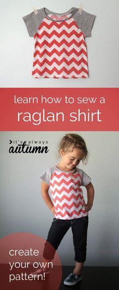 Sew Pretty Sew Free: Cute Raglan Tee Free Sewing Pattern