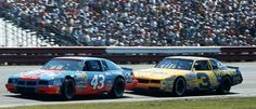 Two 7 time champions on the track at the same time. We'll never see it again.  #OLDSCHOOLNASCAR
