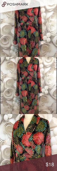Gilligan & O'Malley NWT Floral Soft Robe NWT M/L Gilligan & O'Malley New with Tag - Long SUPER SOFT SUPER FUZZY Multicolored Robe -    Thank you for shopping Charlie Birdie's!!  Brand: Gilligan & O'Malley Style:  Long, Front Tie Robe Condition:  New with tags -  Retail Price $24.99 Fabric:  100% Polyester Size:  Med/Large Colors/Patterns:  Multicolored / Floral  Measurements : Pit to pit:   Up to 48 inches around (this is an open robe with room based on where you tie the robe) Shoulder to…