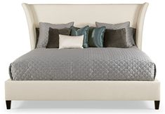 4. Bernhardt Flare Upholstered Bed, King size, custom fabric and finish options, Approximate trade price of $1500