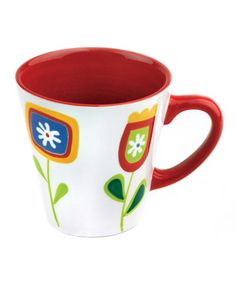 Take a look at this Omniware Red Jardin Matisse Mug  by Colorful Kitchen Collection on #zulily today!