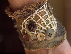 fabric vintage cuff by xAlstroemeriAx