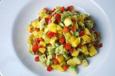 Mango-Avocado Salsa - refreshing, flavorful, light and delish!  #mangoes #avocado #salsa #summerrecipes